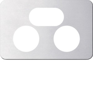 Silhouette Cover Plate Switch Socket Double Horizontal Aluminium