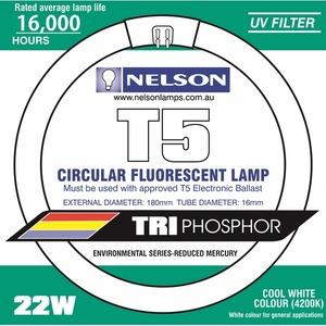 HPM LAMP T5 22W 4000K CIRC FLUORO