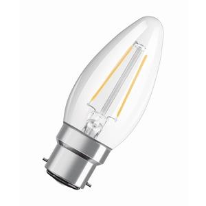 LAMP LED STAR CANDLE FIL B40 4W 827 B22D BC CLEAR NON-DIM