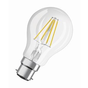 LAMP LED STAR GL FIL A40 4W 827 B22D BC CLEAR NON-DIM