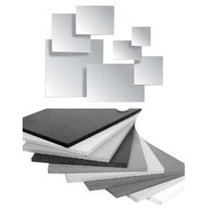 Panel PVC 12 x 18in Grey 300 x 450 x 4.5mmmm