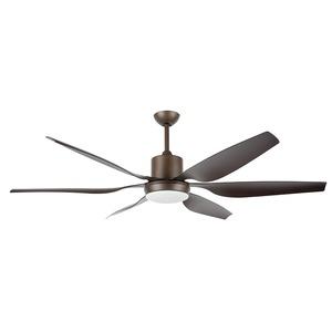 Aviator Ceiling Fan 66in Bronze & Walnut Blade