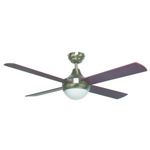 Tempo-II Ceiling Fan 48in & Light Antique Brass Brown Blade