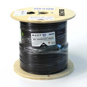 Cable Coax RG6 2.25GHz Sky Satellite Black 152m