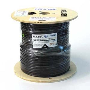 Cable Coax RG6 2.25GHz Sky Satellite Black 152m