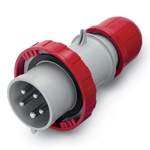 SCAME 218.6337 PLUG 63A 3PNE 5PIN 415V RED IP67