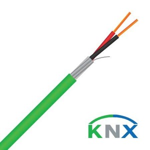 Cable Knx 0.8mm 1pr Solid LSZH Green