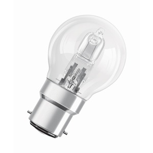 Lamp Halogen Classic P Eco Lustre 30W 240V B22 BC Clear