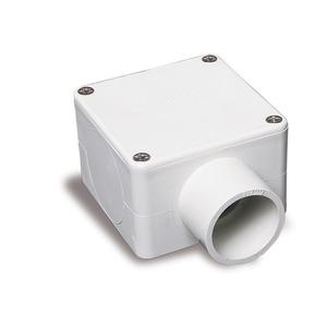 Conduit Box 32mm 1Way Square Grey