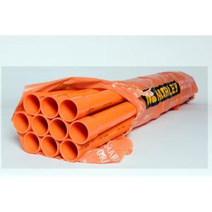 Conduit Pipe 50mm x 4m Orange Heavy Duty