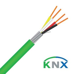 Cable Knx 0.8mm 2pr Solid LSZH Green
