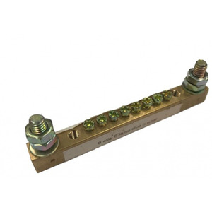 Busbar 6Way 2Stud Small Pitch 6mm New