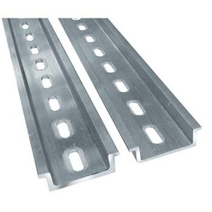 Din Rail 1m Aluminium Punched