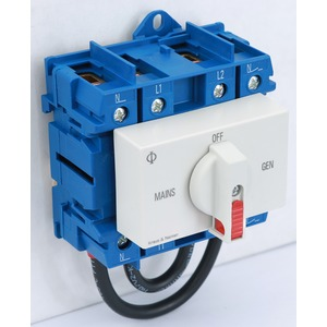 Changeover SW 2P 63A 1PH Din Mount
