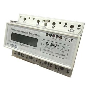 Kilowatt Hour Meter 3Ph 3x 20A 220/380V Din Mnt