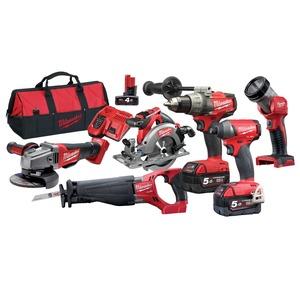 M18 Fuel Drill Driver Sawzall Circ Grinder Kit
