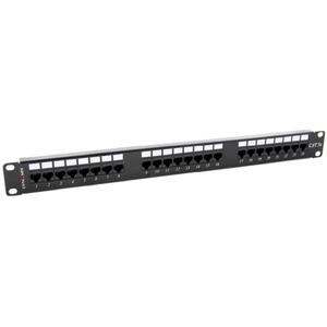 CDY PATCH PANEL 24PORT CAT5E UTP TYPEA 110 T568A & T568B WIR