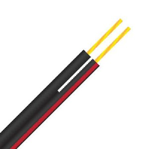 Speaker Cable 0.75mm 2c F8 Black Red 500m Reel