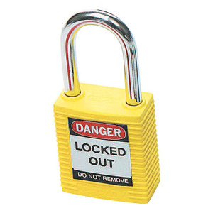 Padlock Yellow Safety 38mm Keyed Diff