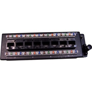CDY PATCH PANEL 8PORT CAT6 SLIMLINE FOR HWS RANGE