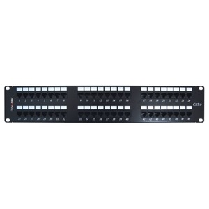 Patch Panel 48Port Cat6 UTP TypeA 110 T568A & T568B Wiring