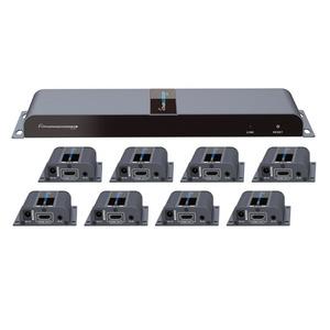 Lenkeng HDMI Extender 1x HDMI In 8x RJ45 Out & 8x Receivers