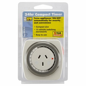 Time Switch Analog Plug In 24hr Compact