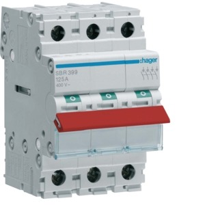 Main Switch 3P 63A Red Toggle
